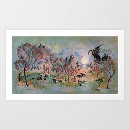 Dragon Hills Art Print