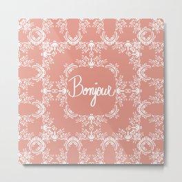 Bonjour - Autumn Peach Metal Print
