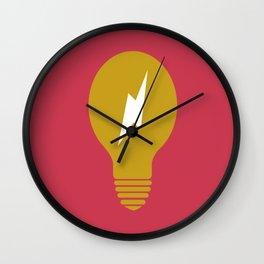 Lightning Bulb Wall Clock