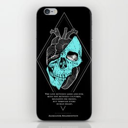Aleksandr Solzhenitsyn Quote - The Line Between Good and Evil iPhone Skin
