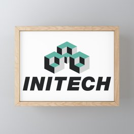Initech Software Company Logo, Artwork For Tshirts, Posters, Stickers, Men, Women, Kids Framed Mini Art Print