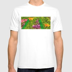 Tropical White Mens Fitted Tee MEDIUM