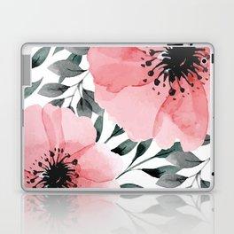 Big Watercolor Flowers Laptop & iPad Skin