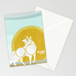 WOLF MOON RISING Stationery Cards