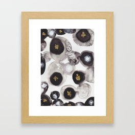 """Flowing Circles"" - Karla Leigh Wood Framed Art Print"