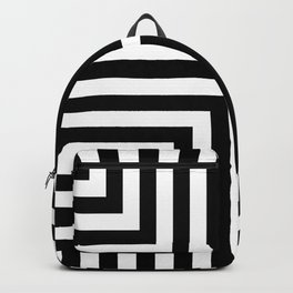 Simple Geometric Cross Pattern - White on Black - Mix & Match with Simplicity of life Backpack