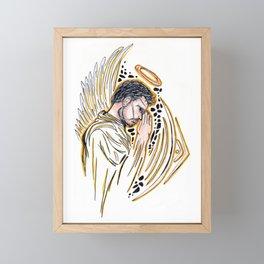 Guarded Prayers Framed Mini Art Print