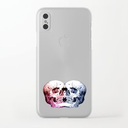 Conjoined Skull Clear iPhone Case