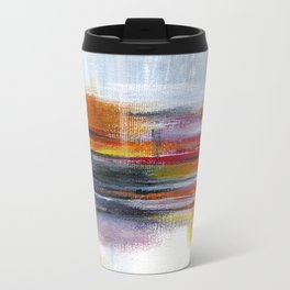 Linear Metal Travel Mug