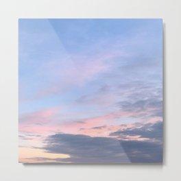 Purple Pink Blueish Sky Metal Print