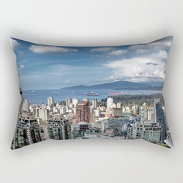 Aerial view at Downtown Vancouver Rectangular Pillow