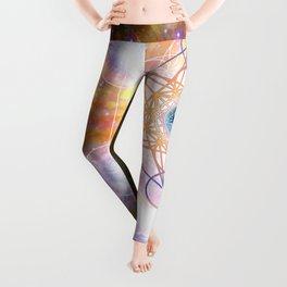 """Aad Guray Nameh""- Merkaba-  Protective energy of the Universe Leggings"
