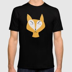 Mr Fox Black Mens Fitted Tee LARGE