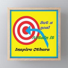 Set a Goal Framed Mini Art Print