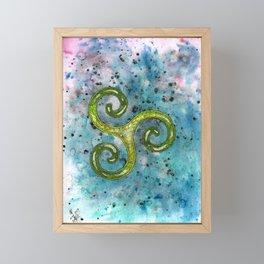 Triskelion Framed Mini Art Print