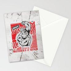 Mayhem Ape (Black on Red) Stationery Cards