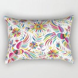 Mexican bird and flowers Rectangular Pillow