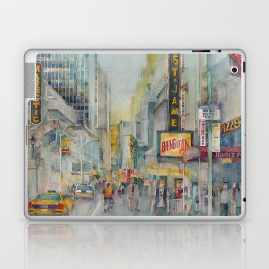 Broadway,  New York - Five O'Clock Revised Laptop & iPad Skin