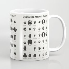 Common Animal Tracks Coffee Mug