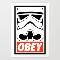 OBEY Storm Trooper  Art Print