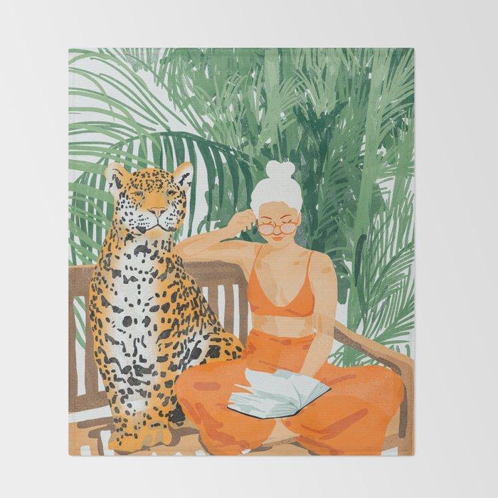 Jungle Vacay #painting #illustration Throw Blanket