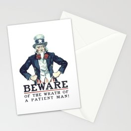 Beware Of The Wrath Of A Patient Man Uncle Sam Stationery Cards