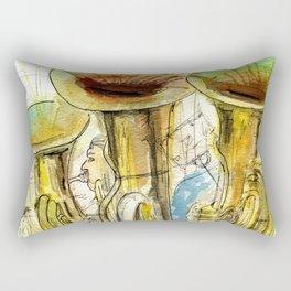 Tubas playing Rectangular Pillow