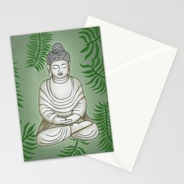 Buddha in the Garden Stationery Cards