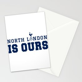 "Tottenham hotspurs tshirt, The Spurs to Dare is to Do ""Audere est Facere"" champions league final mad Stationery Cards"
