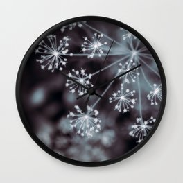 The Stars for You. Botanical Macro Abstract Wall Clock