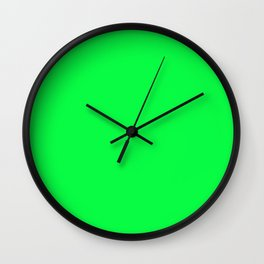 Malachite Green Color Wall Clock