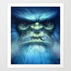 Abominable Snowman Art Print
