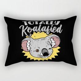 Totally Koalafied Koala Bear Funny Teacher Pun Gift Job Humor Rectangular Pillow