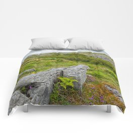 Cloudy Poulnabrone Landscape Comforters