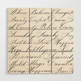 Inspirational Words II Wood Wall Art