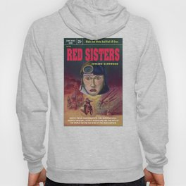 """Red Sisters"" Book Cover Hoody"