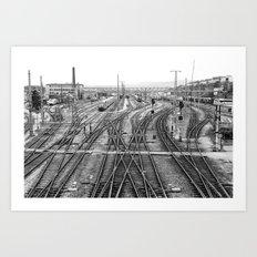 All Trains Lead to Vienna Art Print