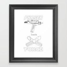 Force beats Phaser Framed Art Print