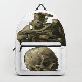 Van Gogh, Head of Skeleton Artwork Skull Reproduction, Posters, Tshirts, Prints, Bags, Men, Women, K Backpack