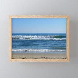 Sunny day at the beach Framed Mini Art Print