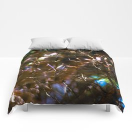 bright blur forest Comforters