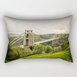 Bristol- Clifton Suspension Bridge Panorama Rectangular Pillow