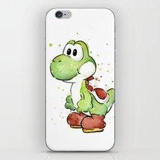 Yoshi Watercolor Mario iPhone & iPod Skin