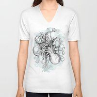 bee V-neck T-shirts featuring The Baltic Sea by David Fleck