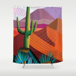 Thunderhead Builds in Arizona Desert Shower Curtain