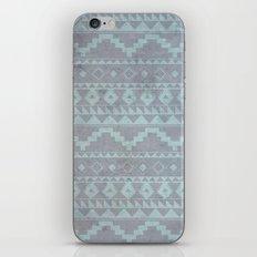 Mint & Gray pattern iPhone & iPod Skin