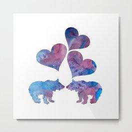 Bear Cubs Metal Print