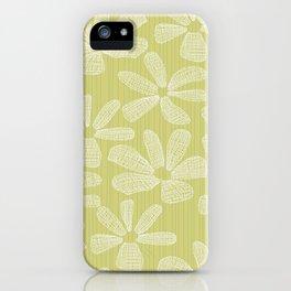 Katalin, lacy daisy in light kaki iPhone Case