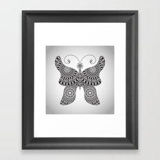 Drawn Butterfly Framed Art Print