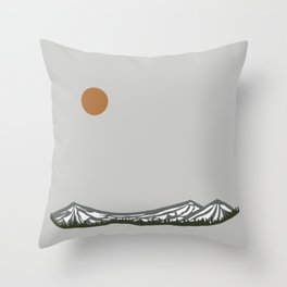Sisters Mountains (Color) Throw Pillow